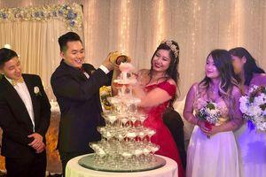 NSND Hồng Vân vắng mặt trong tiệc cưới tại Mỹ của con gái