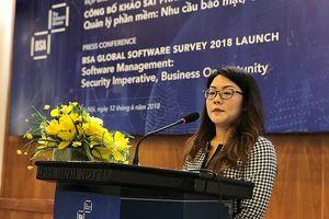 Tỷ lệ phần mềm không bản quyền tại Việt Nam giảm 4%