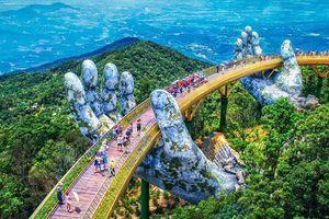 Phát hiện ra cây cầu Vàng trên mây bắc qua bàn tay khổng lồ gây sốt ở Đà Nẵng