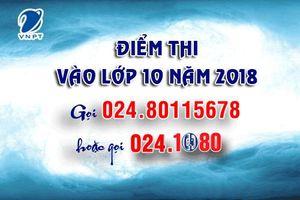Tổng đài 1080 Hà Nội cung cấp dịch vụ tra cứu điểm thi vào lớp 10 năm 2018