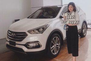 Hyundai SantaFe bất ngờ bốc được biển ngũ quý 2 siêu khủng