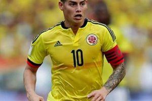ĐT Colombia nhận tin không vui về James Rodriguez