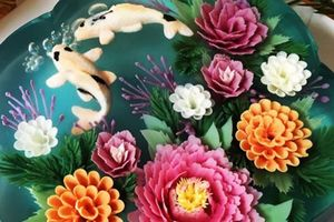 Đã mắt ngắm món bánh thạch hoa 3D siêu đẹp
