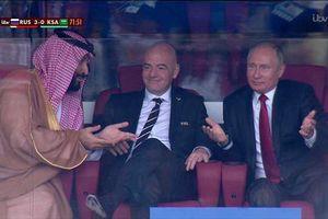 Clip biểu cảm hài hước của Tổng thống Putin tại trận khai mạc World Cup 2018