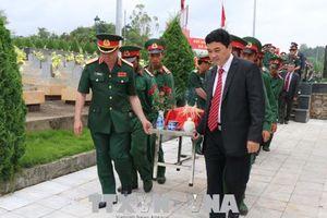 Truy điệu, an táng 25 hài cốt liệt sỹ quân tình nguyện Việt Nam hy sinh tại Lào