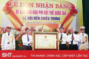 Đón Bằng Di sản văn hóa phi vật thể quốc gia 'Lễ hội đền Chiêu Trưng'
