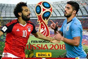 Kết quả trận Ai Cập vs Uruguay, World Cup 2018