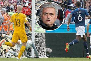 Pogba chính thức bị tước bàn thắng trong trận Pháp thắng Úc 2-1
