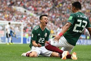 Đương kim vô địch Đức sập hầm, Mexico tạo địa chấn