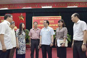 Bí thư Thành ủy Hà Nội Hoàng Trung Hải tiếp xúc cử tri quận Hoàng Mai, huyện Thanh Trì và huyện Gia Lâm