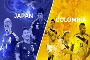 Xem trực tiếp trận Colombia và Nhật Bản: Mãnh hổ đấu với niềm hi vọng châu Á