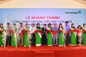 Vietcombank tài trợ xây Trường tiểu học Châu Hòa tại Bến Tre