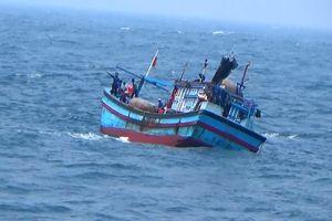 Tàu câu mực cùng 44 ngư dân gặp nạn ở vùng biển Trường Sa