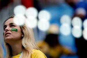 CĐV Brazil 'nhuộm vàng' khán đài sân vận động Saint Petersburg