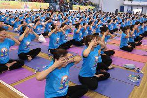 500 người tham dự Ngày Quốc tế Yoga tại TP.HCM