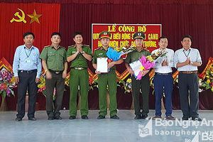 2 cán bộ Công an huyện Anh Sơn chính quy được điều động về làm trưởng, phó công an xã