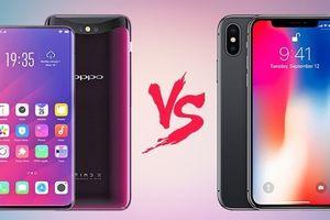Oppo Find X và Apple iPhone X: Cuộc chiến smartphone màn hình không viền