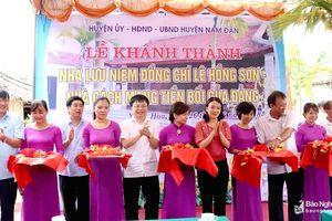 Khánh thành Nhà lưu niệm đồng chí Lê Hồng Sơn
