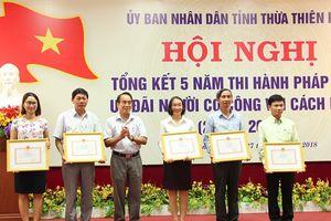 Thừa Thiên Huế: Tiếp nhận và giải quyết trên 37 nghìn hồ sơ người có công