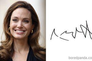 22 chữ ký của người nổi tiếng khiến bạn phải tròn mắt ngạc nhiên, chữ ký của Angelina Jolie quá 'bá đạo'