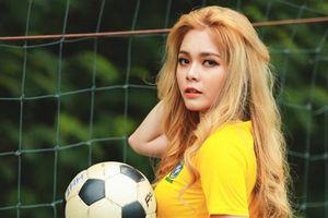 Bị 'ném đá' vì bình luận World Cup ngô nghê, thế mà hotgirl Cao Diệp Anh còn đóng vai cave trong 'Quỳnh Búp Bê'