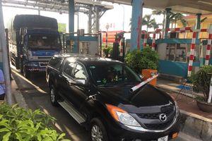 Thái Bình: Nhiều người dân mắc màn giữa trạm BOT Tân Đệ để phản đối