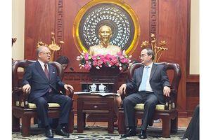 Bí thư Thành ủy TPHCM Nguyễn Thiện Nhân tiếp Cố vấn đặc biệt Liên minh Nghị sĩ Hữu nghị Nhật-Việt