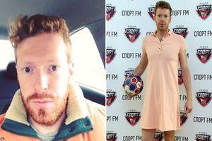 Nga vào tứ kết World Cup, nam phát thanh viên giữ lời hứa mặc váy đi làm