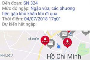 Người sử dụng phần mềm cảnh báo ngập ở Sài Gòn 'ngã ngửa' khi nhận tin này