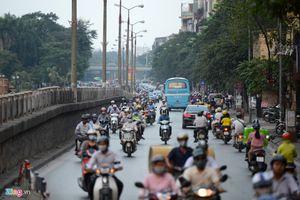 Phân luồng, tổ chức giao thông phục vụ lắp dầm trên đường Kim Mã