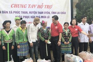 Hội Chữ thập đỏ Hà Nội hỗ trợ người dân vùng lũ Lai Châu