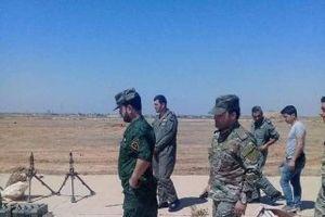 Chùm ảnh: Tư lệnh có tiếng của 'Hổ Syria' thanh sát kho vũ khí khổng lồ ở Dara'a