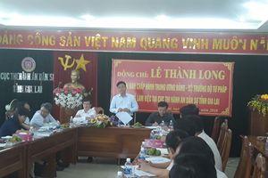Bộ trưởng Lê Thành Long làm việc tại Gia Lai về công tác Thi hành án dân sự