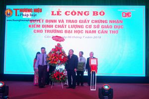 Đại học Nam Cần Thơ công bố chứng nhận kiểm định chất lượng cơ sở giáo dục