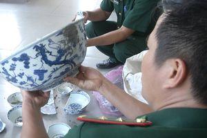 Khai quật tàu cổ đắm ở Dung Quất