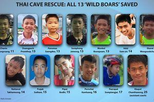 Thái Lan giải cứu thành công toàn bộ đội bóng thiếu niên bị mắc kẹt