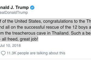 Mỹ, Anh, Đức đồng loạt lên tiếng về chiến dịch giải cứu đội bóng nhí Thái Lan thành công