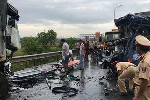 3 xe đâm nhau trên đường tránh Vinh, 3 người thương vong