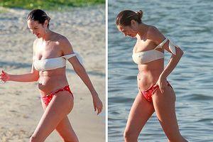 'Thiên thần' Candice Swanepoel lộ thân hình sồ sề sau 3 tuần sinh con