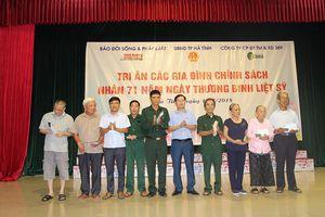 Hơn 100 suất quà dành cho các gia đình chính sách tại TP Hà Tĩnh