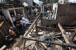 Cháy lớn ở Phnom Penh, 60 căn nhà của người Việt bị thiêu rụi