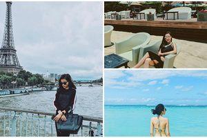 Du lịch là phải chọn những điểm nổi tiếng và chụp ảnh sang chảnh như Hoa hậu Kỳ Duyên
