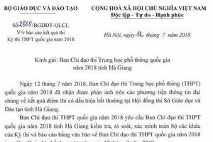 Bộ GDĐT chỉ đạo kiểm tra sau thông tin điểm thi THPT quốc gia 'bất thường' tại Hà Giang