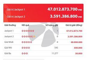 Mồng 2 đầu tháng, dân chơi may mắn trúng Vietlott 47 tỷ đồng