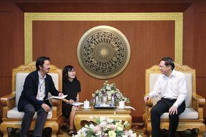 Thứ trưởng Lê Công Thành tiếp và làm việc với ông Kobayashi Ryutaro, Phó trưởng Đại diện JICA tại Việt Nam 