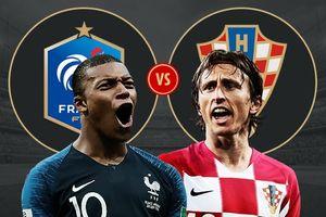 Dự đoán kết quả Pháp vs Croatia chung kết World Cup 2018