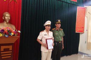 Huyện Đô Lương có Phó trưởng Công an huyện mới
