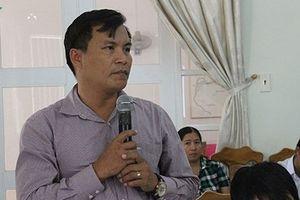Tạm đình chỉ một Bí thư kiêm Chủ tịch xã ở Bắc Vân Phong