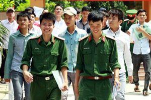 Các trường quân đội công bố ngưỡng điểm xét tuyển