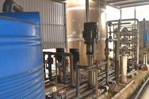 Đưa vào sử dụng Hệ thống cấp nước sinh hoạt trung tâm huyện Lý Sơn